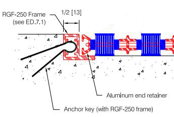 RGF-250 Frame for Pawling EM-70-OS Drain-Well Entrance Mat