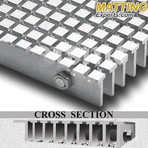 Safe Track Grate Recessed Mat Mats Inc