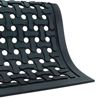 Rubber entry mat with drainage holes