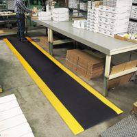 Razorback cushioning antifatigue sponge mat APPLICATION