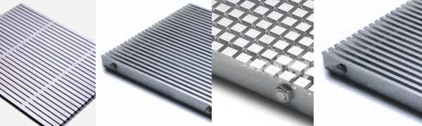 Stainless steel and aluminum grates