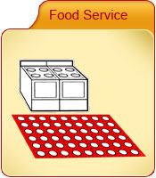 Food service-kitchen mats