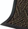 Carpetlike entry mat with raised rubber edge