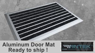 2 x 3 aluminum door mat with borders