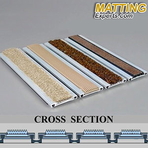Recessed Foyer Mats - Rubber grate flooring